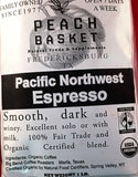 Big Bend Coffee Roasters Pacific Northwest Espresso Organic Whole Bean 1 lb