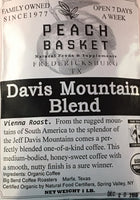 Big Bend Coffee Roasters Davis Mountain Blend Coffee Organic Whole Bean 1 lb