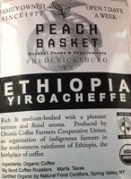 Big Bend Coffee Roasters Ethiopia Yirgacheffee Coffee Organic Whole Bean 1 lb