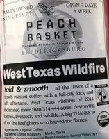 Big Bend Coffee Roasters West Texas Wildfire Coffee Organic Whole Bean 1 lb