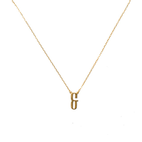 & - Sign necklace gold