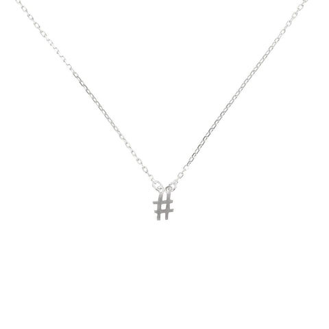# Hashtag necklace silver