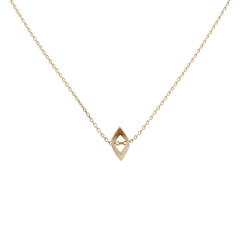 Life isn't square necklace gold