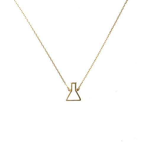 You + me = Chemistry necklace gold