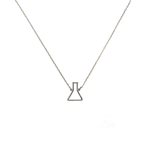 You + me = Chemistry necklace silver