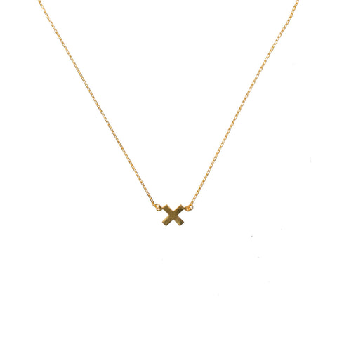 X marks the treasure in you necklace gold