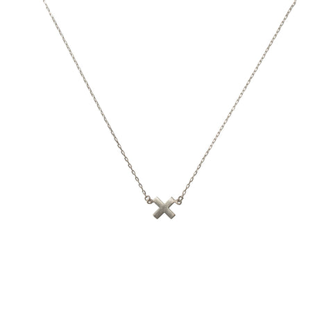 X marks the treasure in you necklace silver