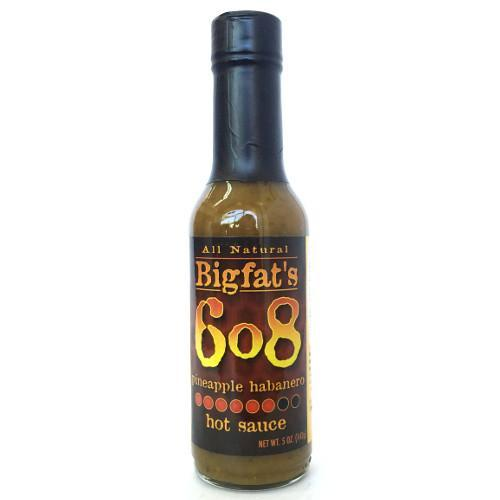 6o8 Pineapple Habanero Hot Sauce - Bigfat's Heat Hot Sauce Shop