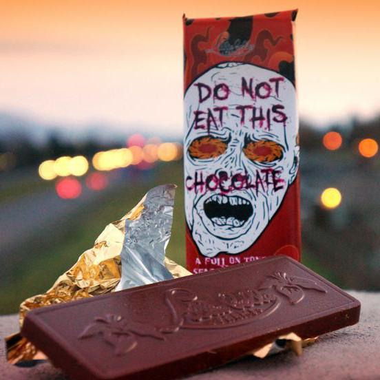 Do Not Eat This Chocolate - Ghost Pepper Chocolate - Lillie Belle Farms Heat Hot Sauce Shop