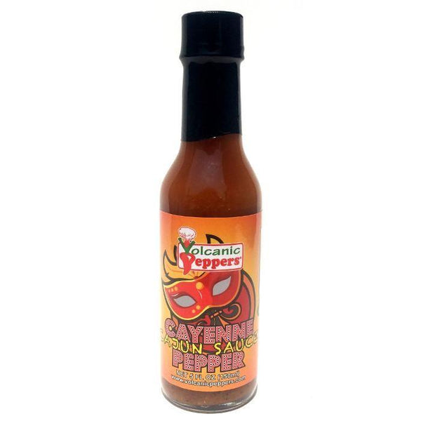 Cajun Cayenne Pepper Sauce - Volcanic Peppers Heat Hot Sauce Shop