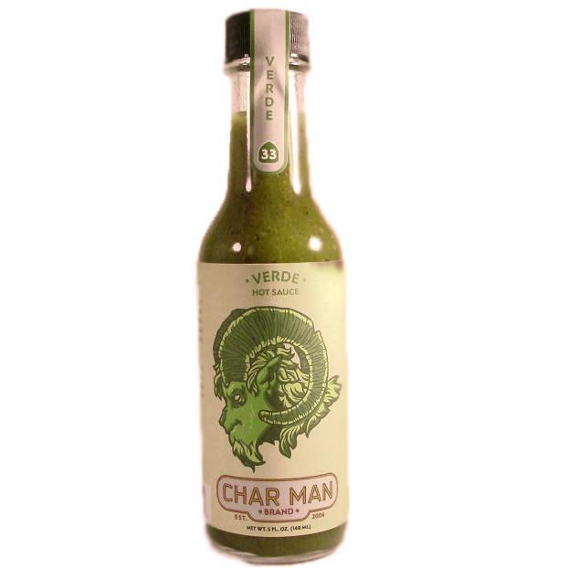 Char Man Verde Hot Sauce - Char Man Heat Hot Sauce Shop