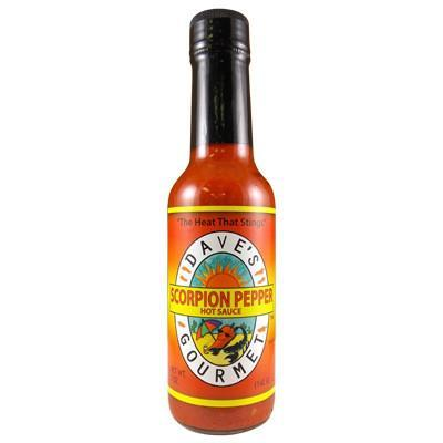 Scorpion Pepper Sauce - Dave's Gourmet Heat Hot Sauce Shop