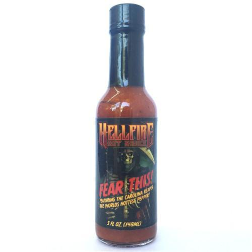 Hellfire Fear This Carolina Reaper Hot Sauce - Hellfire Hot Sauce Heat Hot Sauce Shop