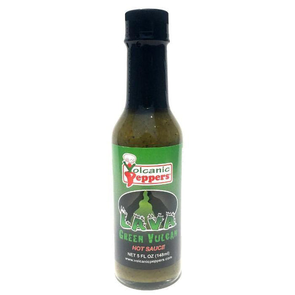Green Vulcan Hot Sauce - Volcanic Peppers Heat Hot Sauce Shop