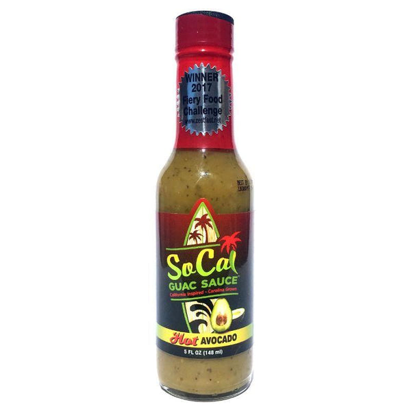 Hot Avocado SoCal Guac Sauce - SoCal Hot Sauce Heat Hot Sauce Shop