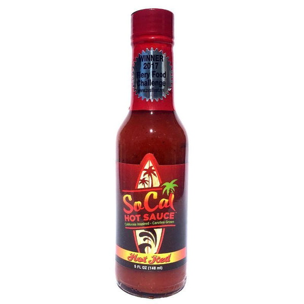 Hot Red SoCal Hot Sauce - SoCal Hot Sauce Heat Hot Sauce Shop