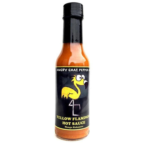 Yellow Flamingo Hot Sauce - Angry Goat Pepper Co. Heat Hot Sauce Shop