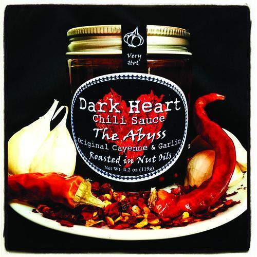 The Abyss with Cayenne, Walnut Oil, Hazelnut Oil, & Garlic - Dark Heart Chili Sauce Heat Hot Sauce Shop