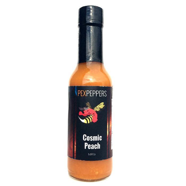 Cosmic Peach Hot Sauce - PexPeppers Heat Hot Sauce Shop