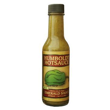 Emerald Sauce with Cilantro, Ginger, & Lime - Humboldt Hot Sauce Heat Hot Sauce Shop