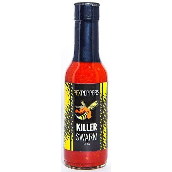 KillerSWARM Moruga Scorpion Hot Sauce - PexPeppers Heat Hot Sauce Shop