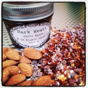 Le Diablo Cacao with Cacao Nibs, Dates, & Walnut Oil - Dark Heart Chili Sauce Heat Hot Sauce Shop
