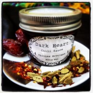 Chillies Erotique with Cayenne, Rosewater, & Cardamom - Dark Heart Chili Sauce Heat Hot Sauce Shop