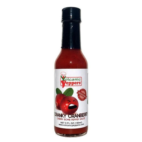 Cranky Cranberry Cherry Bomb - Volcanic Peppers Heat Hot Sauce Shop
