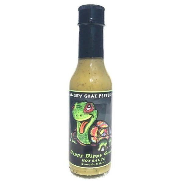 Hippy Dippy Green - Angry Goat Pepper Co. Heat Hot Sauce Shop