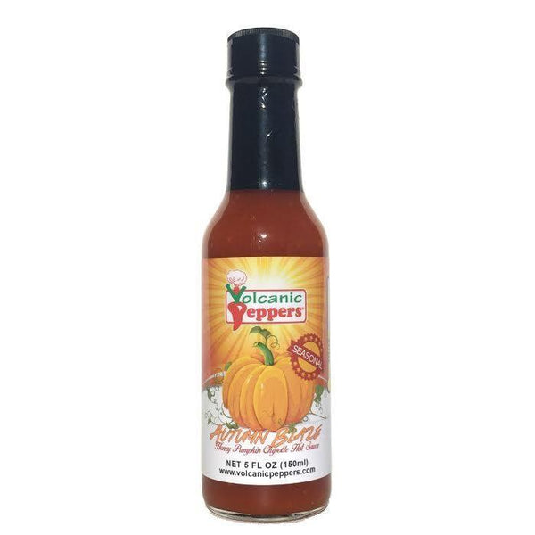 Autumn Blaze Honey Pumpkin Chipotle - Volcanic Peppers Heat Hot Sauce Shop