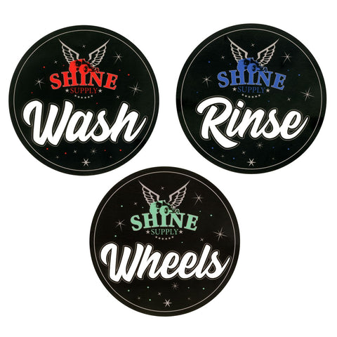 Shine Supply Bucket Stickers