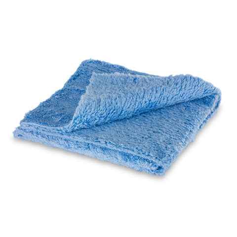 Edgeless blue micro fiber towel - 16x16