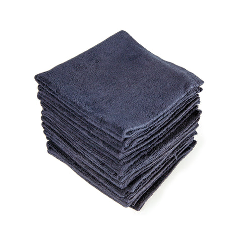 "Black Edgeless Microfiber Towel 16""X16"""