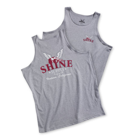 "Shine Supply ""Traditional"" Tank Top - Ash Gray"