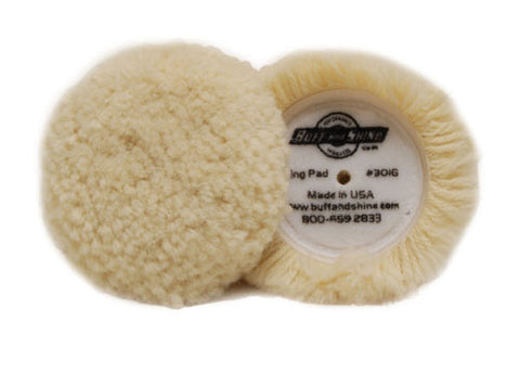 "3"" Wool Buff and Shine Pads (2-Pack)"