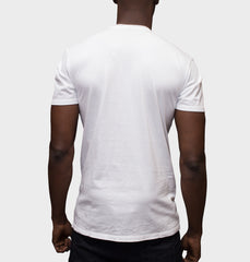 Aftermath White V-Neck Graphic Tee