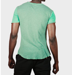 Atlantic Mint Scroop Neck Tee