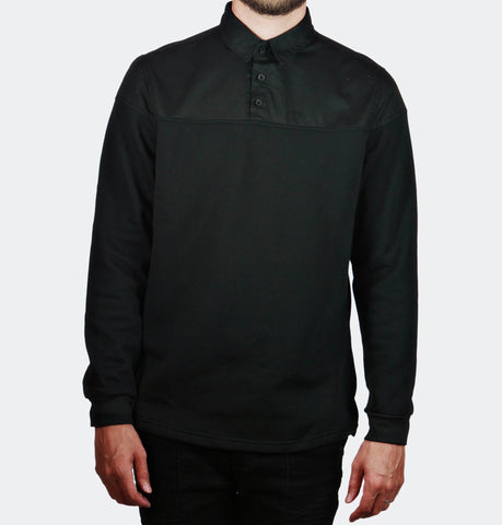 Sever Black Pullover Buttondown