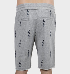 Bolt Grey Drawstring Shorts