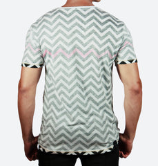 Chevron Black V-Neck Tee