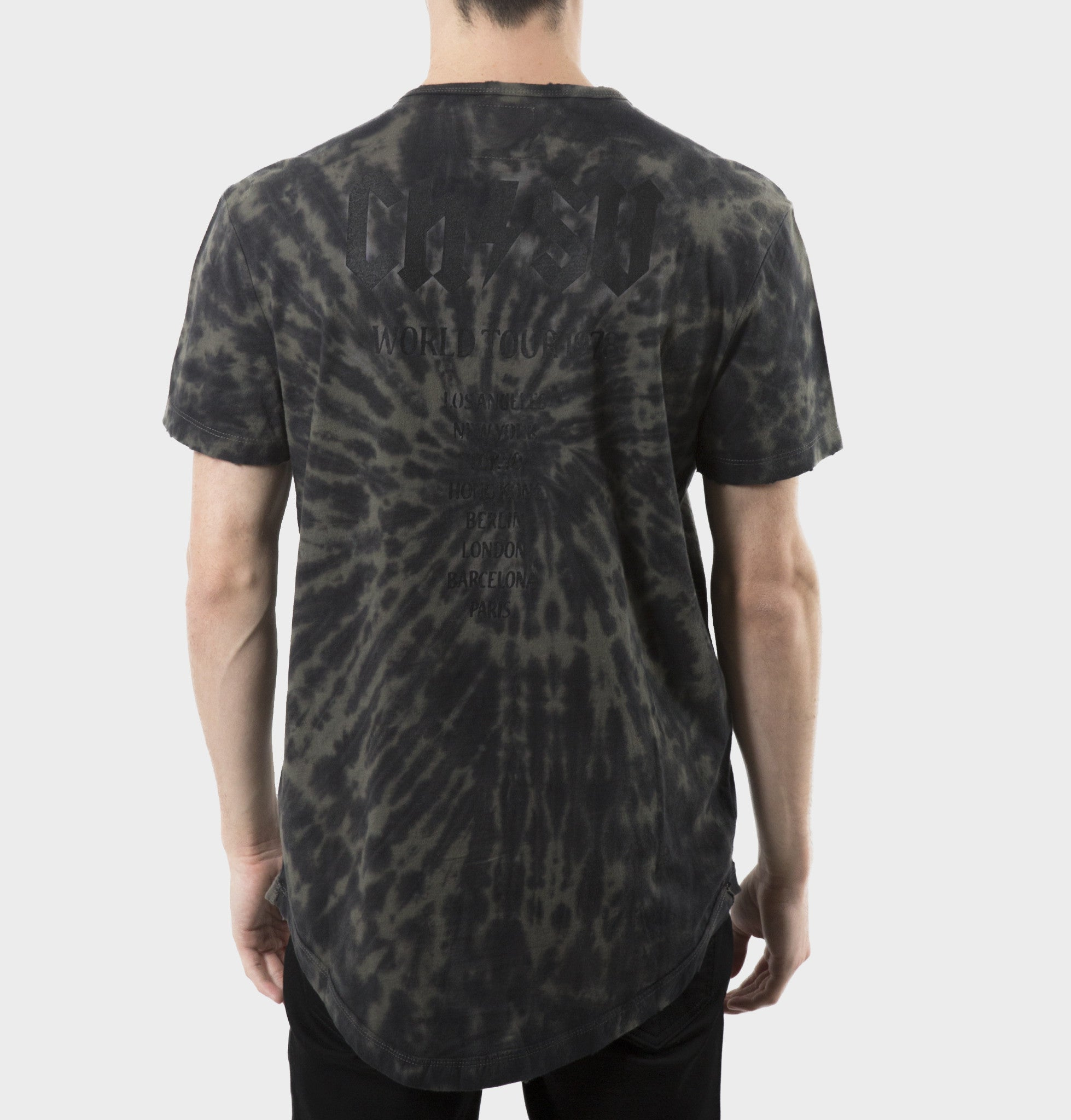 Clyde Black Tie-Dyed Tee