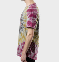 Clyde Burgundy Tie-Dyed Tee