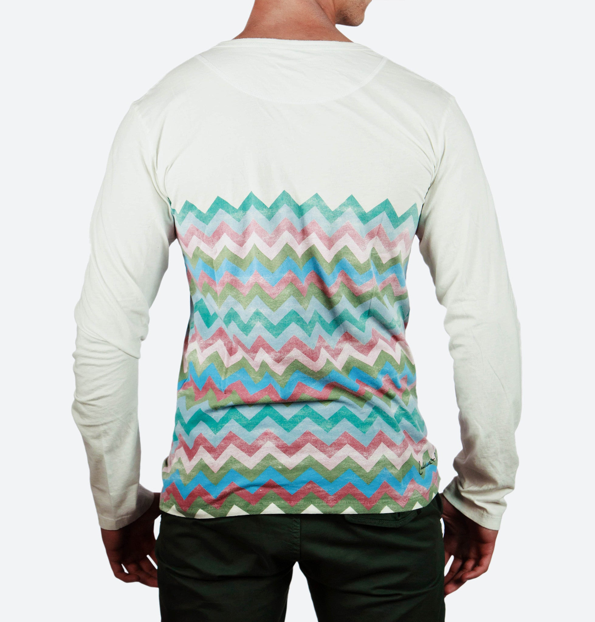 Einstein Teal Long Sleeve Henley