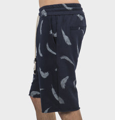 Feather Navy Drawstring Shorts