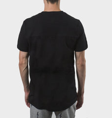 Grewline Dusty Black Paneled Tee