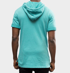 Surf Mint Short Sleeve Pull Over Hoodie