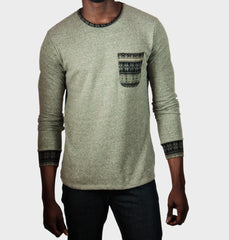 Helena Light Grey Long Sleeve Shirt
