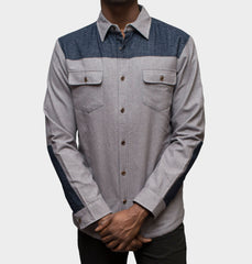 Holloway Grey Button-Up Jacket