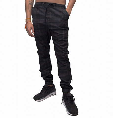 Rover Black Plaid Jogger