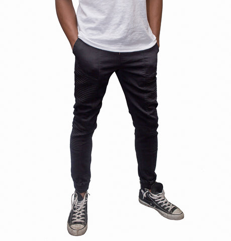 Venus Black Denim Jogger